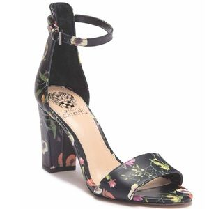 Vince Camuto black floral NWT 8.5